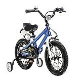 RoyalBaby BMX Freestyle niños bicicleta para niños y niñas, 12-14-16-18 pulgadas, con ruedas de entrenamiento y soporte de parque