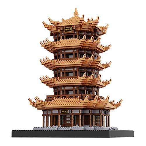Kunze Juguetes educativos 4023 Miniatura Building Blocks Configuración China Antigua de Miniatura módulos previstos for la Infancia (Torre de grúa Amarilla)