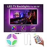 LED Streifen TV Hintergrundbeleuchtung, Sporgo 20m LED Strip Lichterkette, LED Streifen mit Fernbedienung LED Strip Licht Streifen RGB SMD5050 USB Powered für TV PC Computer Schrank