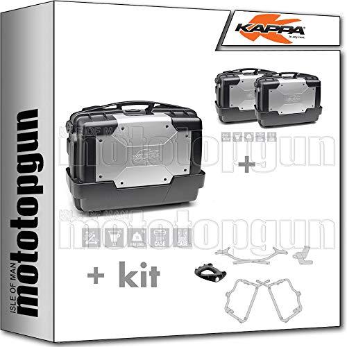 Kappa KGR33 - Maletín KGR33 + maletín lateral KGR33PACK2 + portabicicletas Monokey + portaequipajes lateral compatible con Yamaha FZ6 600 FAZER S2 2010 10