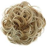 PRETTYSHOP XL Haarteil Haargummi Hochsteckfrisuren Brautfrisuren Voluminös Gelockt Unordentlich Dutt Blond Mix G7E