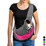 YUDODO Pet Dog Sling Carrier Breathable Mesh Travel Safe Sling Bag...