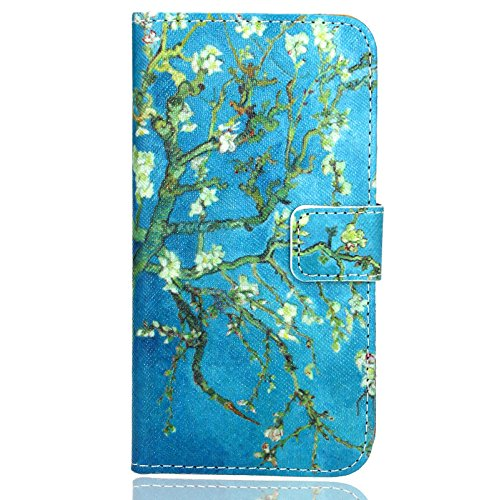 FoneExpert® Huawei Y6 II Compact / Huawei Y5 II Handy Tasche, Wallet Case Flip Cover Hüllen Etui Hülle Ledertasche Lederhülle Schutzhülle Für Huawei Y6 II Compact / Huawei Y5 II - 2