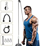 Elikliv Pulley System Gym, Fitness Pulley Cable Machine LAT Pulldown Attachments, Tricep Pulley...