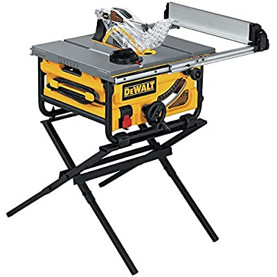 DEWALT DW745S Compact Job Site Table Saw with Folding Stand from Dewalt