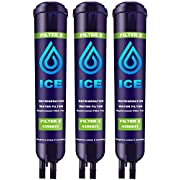 Perfect Ice Refrigerator Water Filter Compatible with Whirlpool EDR3RXD1,EDR3RXD1B,4396841,4396710,4396710P,4396710B, Kenmore 9083,9030,46-9030(3 Pack Blue)