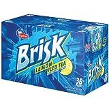 Lipton Brisk Lemon Iced Tea, 12 Ounce (36 Cans)