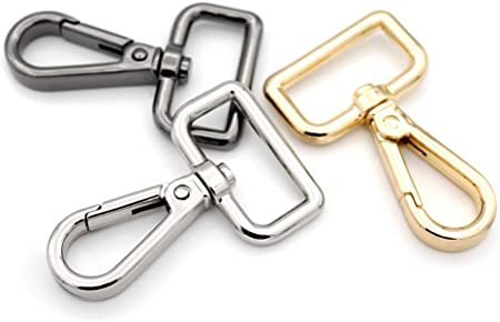 1 1//2 Inches, Gold CRAFTMEmore All Sizes Swivel Trigger Snap Hook Metal Lobster Claw Clasps Purse Clips Accessories 2PCS