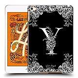 Head Case Designs Officiel Nature Magick Lettre Y Monogramme Fleurs B&W 2 Coque Dure pour l'arrière...