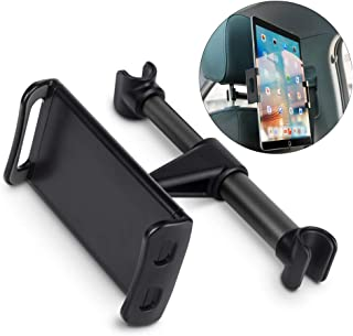 Car Headrest Mount, 360°Rotated Back Seat Stand Bracket Road Trips Holder Dedicated for 4.4''- 11'' Cellphones, Tablets, Kindle,ipad (Black)