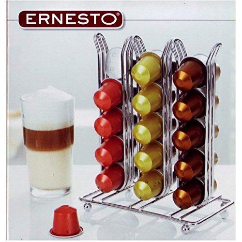 Ernesto Kapselhalter für 30 Nespresso Kapseln aus verchromtem Stahl