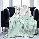 Mármol Blanco Real Medio Pastel Verde Menta Ultra Suave Manta de Microfibra Polar de Franela Suave y cálido sofá Cama sofá Cama Sala de Estar
