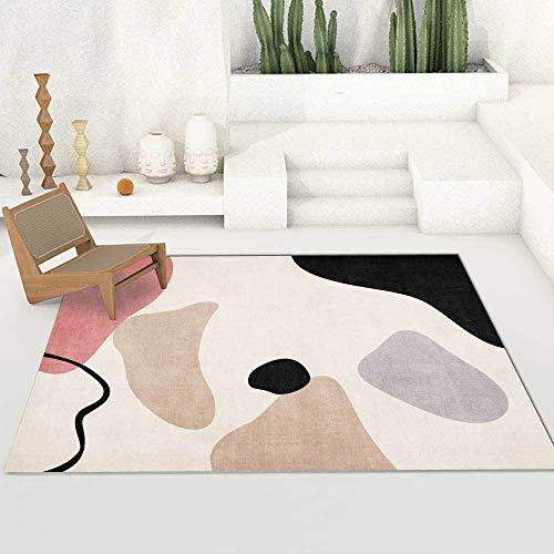 Teppich Moderner Wohnzimmer Große Area Rugs Einfache geometrische rosa lila bl Schlafzimmer Zimmer Teppich Sofa Tisch Kind Krabbeln Matte 140×200CM (4ft7 x 6ft6)