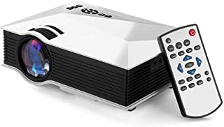 Hd Movie Projector WiFi, Remote Control LCD Home Theater Video Projector Supporting 1080P with HDMI Cable with HDMI/VGA/AV...