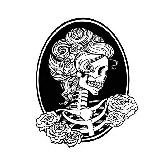 IMIKEYA Halloween-Partys, weiblicher Totenkopf, Vinyl-Aufkleber (58 x 74 cm)
