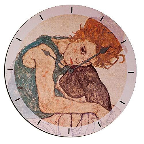 Artopweb Orologio da Parete Reloj de Pared, Madera, Multicolore, Tamaño: 60 x 60 Cm