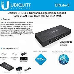 Best Router for Google Fiber - Reviews & Buyer's Guide: Ubiquiti EdgeMax EdgeRouter Lite ERLite-3