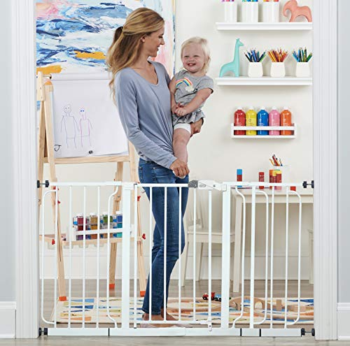 Regalo 56-Inch Extra WideSpan Walk Through Baby Gate, Includes 4-Inch, 8-Inch and 12-Inch Extension,...