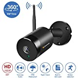 [5MP Outdoor WiFi Security Camera Wireless] <span class='highlight'><span class='highlight'>Jennov</span></span> WiFi 5MP Two Way Audio 360 Degree Panoramic Surveillance Camera Outdoor with Night Vision for Home Security Pre-installed 32G Micro SD Card