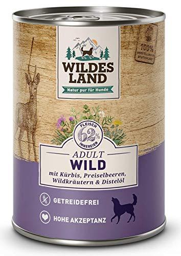 Wildes Land Hundefutter Nassfutter Wild 400g (12 x 400g)