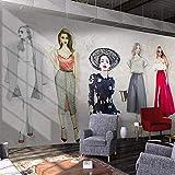 CQDSQN 3D pegatinas de pared Papel pintado Tienda de novias retro PVC Auto-adhesivo Mural Tienda Hotel Café Internet Gimnasio Yoga Tienda de ropa Tienda de mascotas Película Juego Tema (W)400x(H)280cm