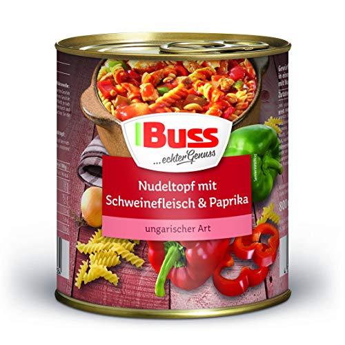 Buss Nudeltopf mit Schweinefleisch & Paprika ungarischer Art, 6er Pack (6 x 800 g)