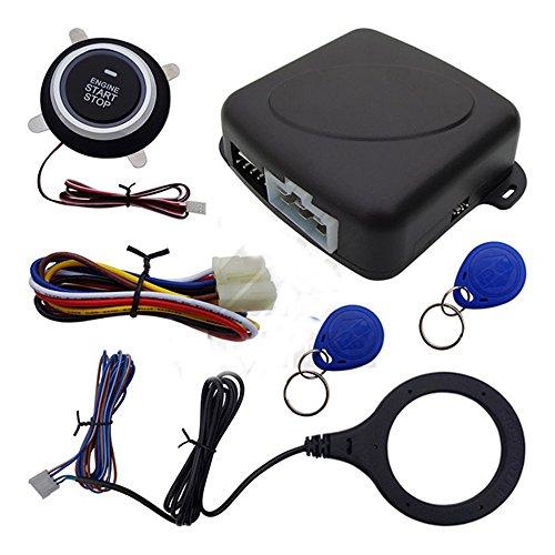 Juego de arranque de motor de coche mediante un botón 12 V para encender y apagar el motor, con bloqueo de seguridad por RFID