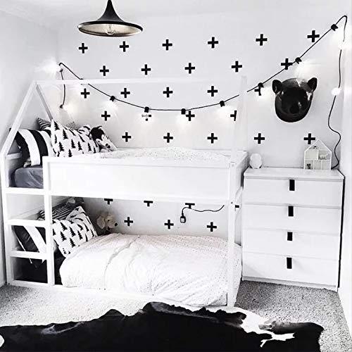 Generische 36pcs Stück Plus Kreuze Wand-Tattoo Wand-Aufkleber Sticker schwarz Baby Kinder-Zimmer