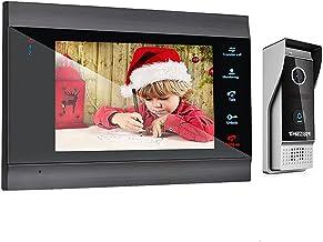 Draadloze Wifi Video Deurtelefoon Deurbel Met Monitor Intercom Systeem, 7 Inch Kit Bedrade Nachtzicht Voordeur Ontgrendelen