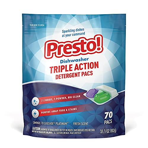 Amazon Brand - Presto! Triple Action Dishwasher Pacs
