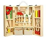 Tlingit Construcción Juguetes Niños Herramientas de Madera Juego Caja Carpintero 35 Pcs DIY Toys 4 Años y Más