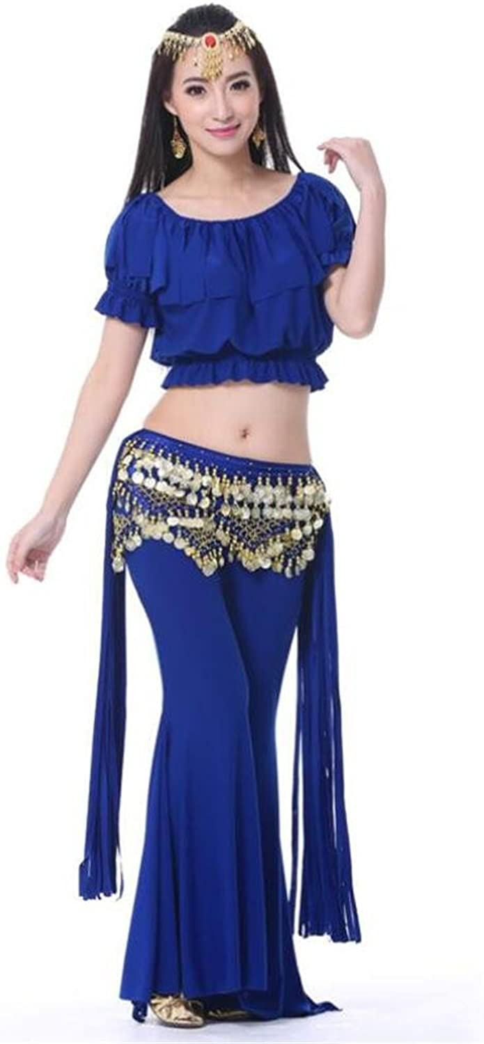Women belly dance tribal practice set Crystal cotton Performance Match Modern costume outfit clothes