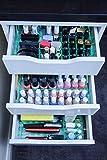 MissOrg Schubladeneinteiler für IKEA Alex 5 Schubladen – Acryl Make-up-Organizer Glass Look