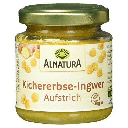 Alnatura Bio Brotaufstrich Kichererbse mit Ingwer, vegan (1 x 120 g)