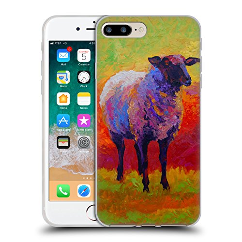 Head Case Designs Oficial Marion Rose Suffolk Abstracto 2 Ovejas Carcasa de Gel de Silicona Compatible con Apple iPhone 7 Plus/iPhone 8 Plus