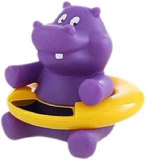 Divertido termómetro para bebés Baby Bath Toy Flotante Bañera termómetro de Temperatura del Agua del probador de Juguete infrarrojo para el bebé de baño (Purple Hippo)