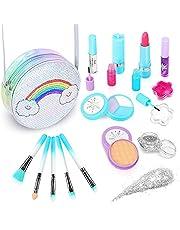 JoinJoy Maquillaje Niñas Set Maletin Juguete Niña Juguetes para Chicas Regalo de Princesa para Niñas en Fiesta,Cumpleaños,Navidad (Azul)