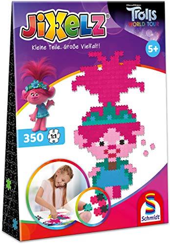 Schmidt Spiele 46108 Jixelz, Trolls, 350 Teile, Kinder-Bastelsets, Kinderpuzzle
