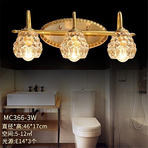 DengWu wandverlichting Cu alle continental voor de spiegellamp en badkamers, spiegelkasten, lampen, kristal licht, cosmeticalampen, wc (46 x 17 cm) wandlampen