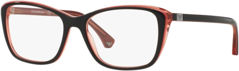 Eyeglasses Emporio Armani EA 3083 5514 TOP BLACK OPAL CORAL CORAL TR