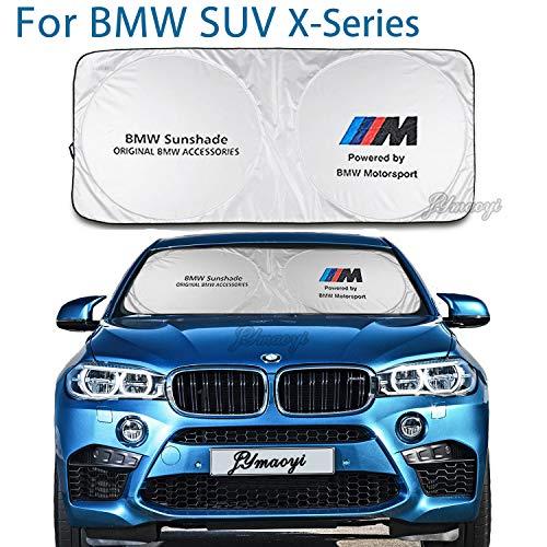 For BMW Sunshade Windshield Visor Cover Car Window Sun Shade UV Protect Car Window Film for E28 E31 E32 E34 E38 E39 E53 E60 E61 E63-67 E70 E71 E72 E83 F01-04 F10-13 X1 X2 X3 X4 X5 X6 M-Series etc