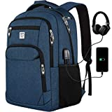 Laptop Backpack, Men Professional Backpack with Laptop Compartment & USB Charging Port