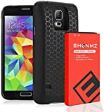 Galaxy S5 Battery,7800mAh Galaxy S5 Extended Battery Replacement with Black Protection Cover Case (Up to 3X Extra...