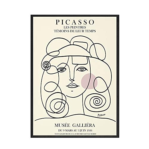 Picasso Matisse lienzo pintura impresiones abstractas cuerpo de niña flor cartel nórdico hogar sin marco lienzo pintura G 60x90cm