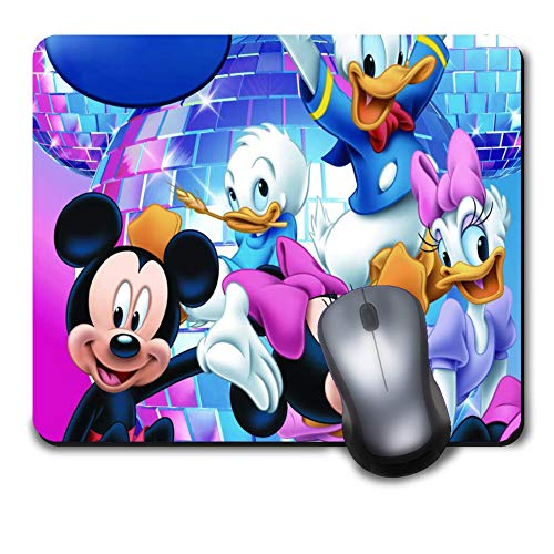 Computer Gaming Mouse Pad Non-Slip Rubber Material for Office and Home Laptop Desktop Notebook Mousepad - Disney Character Mickey Mouse Minnie