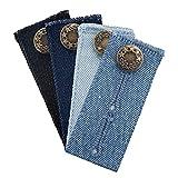 LUTER 4 Piezas 8.5x3.5cm Extensores de Cintura de Botón para Embarazo, Hombres, Mujeres, Jeans, Pantalones, Pantalones, Faldas (4 Colors)