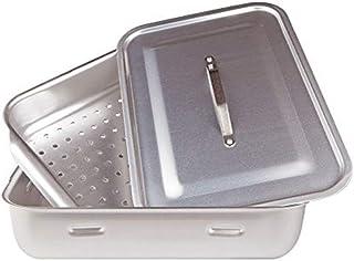 Agnelli Ollas Rectangular Vapor con Tapa, 2 Asas, Aluminio, Plata, 50x33 cm