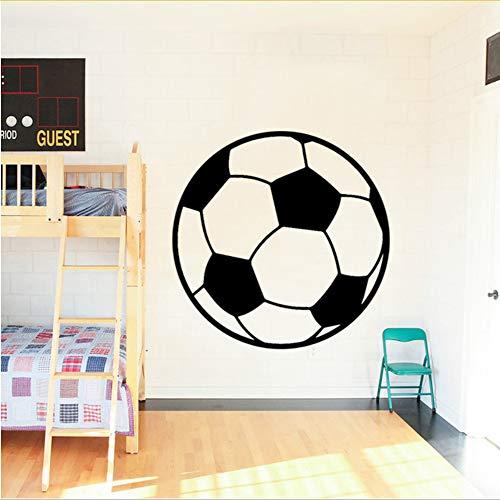 Sportgeräte Fußball Muster Wandaufkleber Für Kinderzimmer Dekoration Zubehör Vinyl Aufkleber Wasserdicht Abnehmbare Wohnkultur 58X57CM