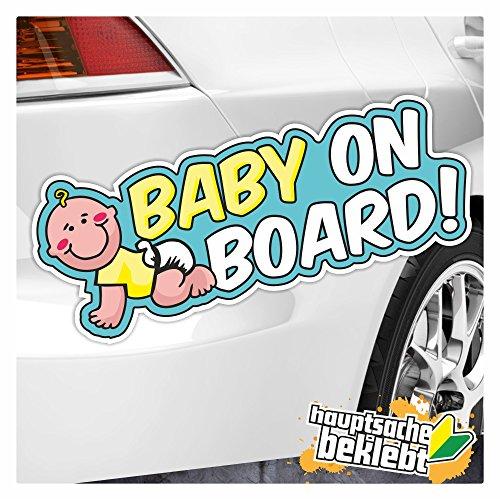 Kiwi Star Baby à bord autocollant multicolore Stickers fun Sticker Colored 20 x 7 cm