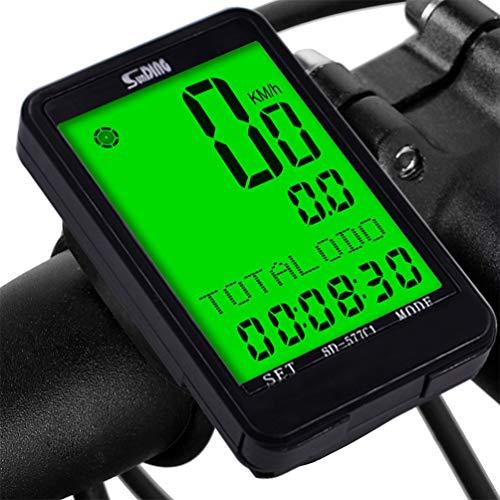 Upworld Fahrradcomputer Kabellos, Multifunktion Fahrradtacho Kabellos Wasserdicht Tachometer, Kilometerzähler mit LCD Hintergrundbeleuchtung und 8 Sprache für Radsport Radgeschwindigkeits Tracking